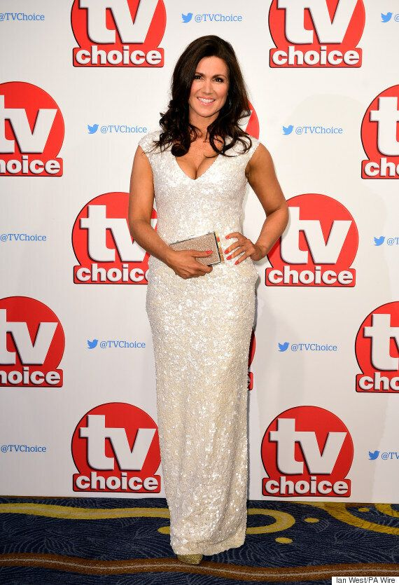 TV Choice Awards: Susanna Reid And Amanda Holden Channel Old School Hollywood Glamour On The Red Carpet