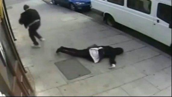 Hijab-Wearing Teenage Girl Caught On CCTV Suffering Brutal