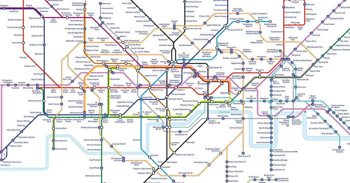 London Underground Rail Map.Elizabeth Line London Tube Map Shows How Capital S Underground Will