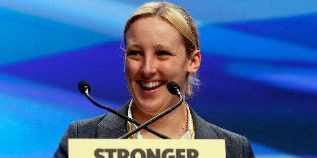 SNP MP Mhairi Black addresses the SNP National conference at Aberdeen Exhibition and Conference Centre...