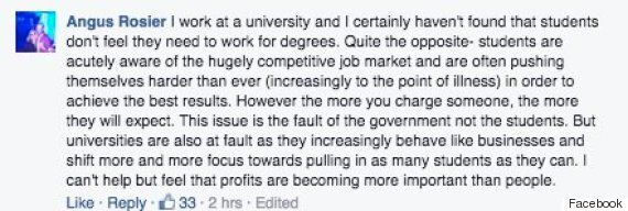 Academic Writes Experience Of Students Under £9,000 Fees Regime, Prompts Fierce