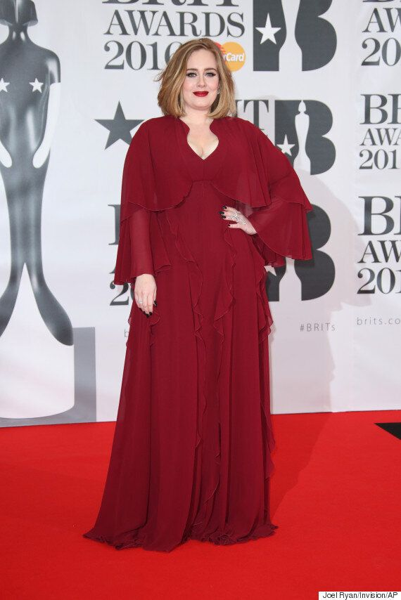 Brit Awards 2016: Adele Matches Her Look To The Red