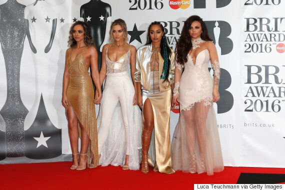 Brit Awards 2016: Little Mix Give Us Golden Goddess Vibes On The Red