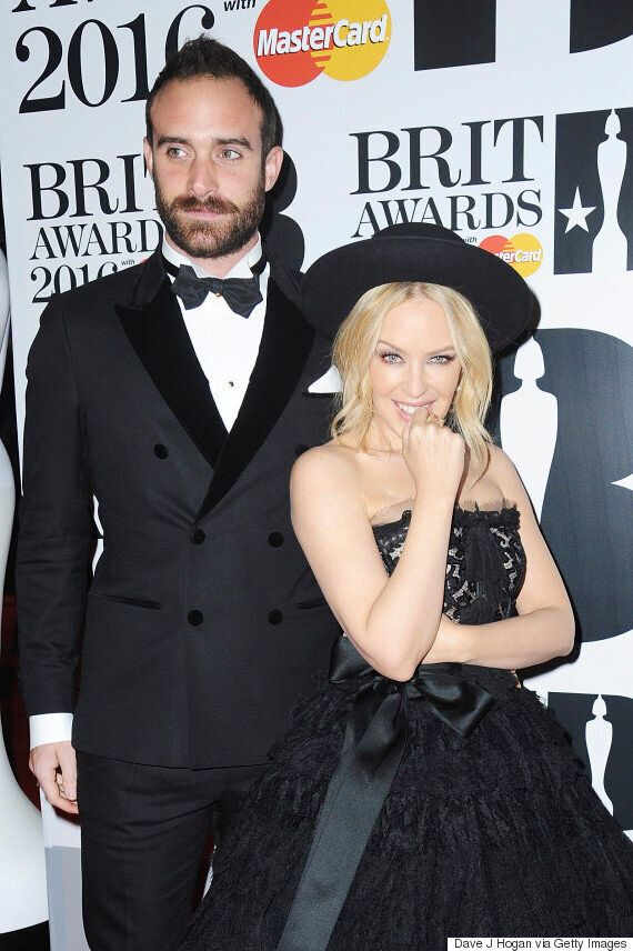 Brit Awards 2016: Kylie Minogue And Fiancé Joshua Sasse Step Out For The First Time Since Confirming