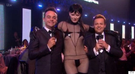 Brit Awards 2016: Ant And Dec Interrupted By Model Sadie Pinn While Introducing Jess Glynne