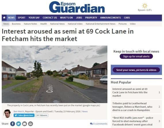 Property For Sale At 69 Cock Lane Is Arousing Local