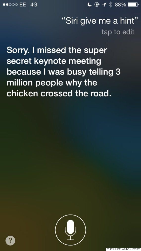 Siri Gives Curious iPhone 6 Fans A Cheeky Response Ahead Of The Apple