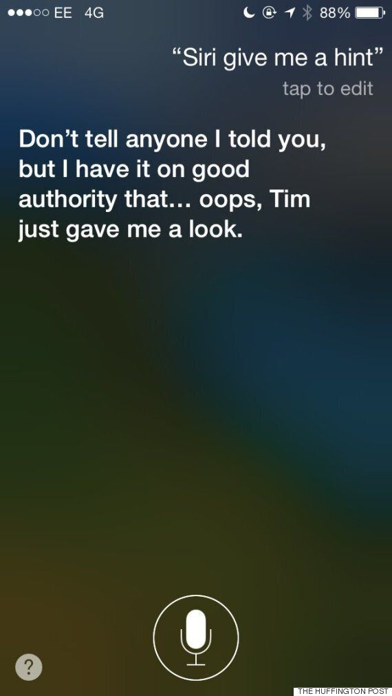 Siri Gives Curious iPhone 6 Fans A Cheeky Response Ahead Of
