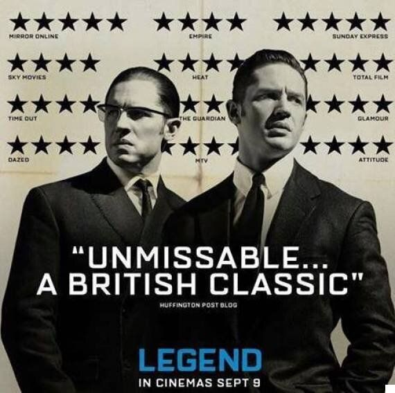 'Legend' Poster Hides Two-Star Review Behind Tom Hardy