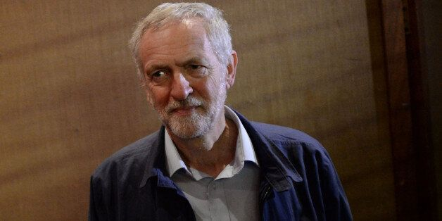 Labour leadership contender Jeremy Corbyn arrives at Queen's Hall, Winter Gardens, Margate for a campaign...
