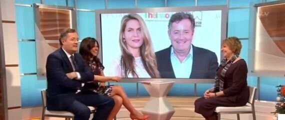 Piers Morgan Left Red-Faced After Getting Pranked By Wife On 'Good Morning Britain' Phone-In