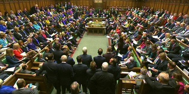 Acting Labour party leader Harriet Harman speaks during Prime Minister's Questions in the House of Commons,
