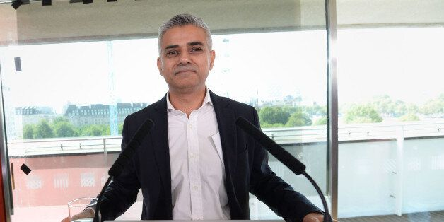 Sadiq Khan after it was announced that he has been chosen as the Labour candidate to run for London Mayor...