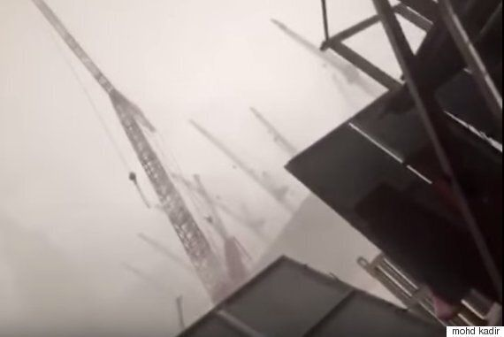 Mecca Grand Mosque Crane Collapse Caught On Amateur