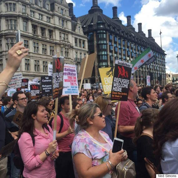 Jeremy Corbyn Joins Tens Of Thousands At 'Solidarity With Refugees' March In