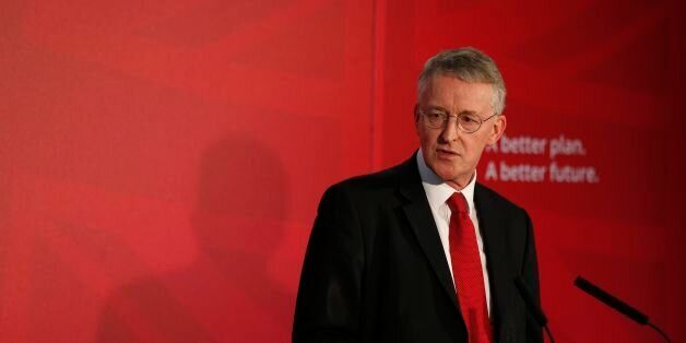 Shadow Communities Secretary Hilary Benn at The Tetley Gallery in Leeds where Labour's launch of its...