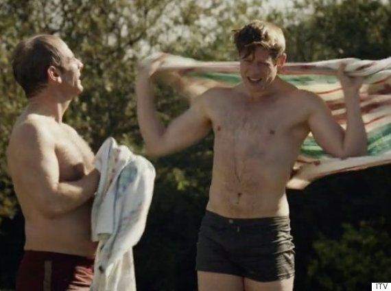 'Grantchester' Star James Norton Admits He Beefed Up To 'Keep Up With Robson Green' For Swimming