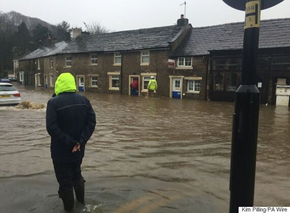 David Cameron's Visit To Flood Victims In The North Of England Doesn't Seem To Be Going Down Particularly