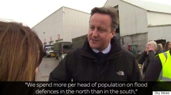David Cameron Insists North Gets More Money To Fight Flooding Not Less, Denies 'North/South