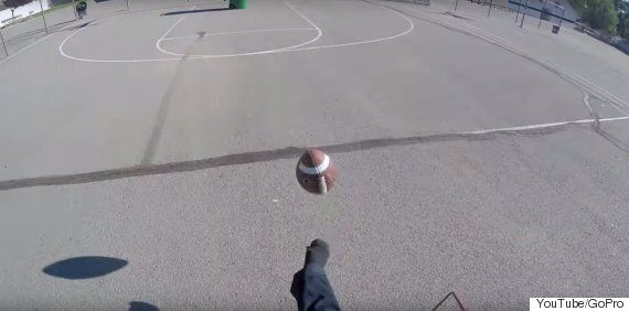 GroPro Video Captures Adam Lenon's Incredible Football Trick