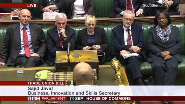 Jeremy Corbyn Pictured On Labour's Front Bench For The First