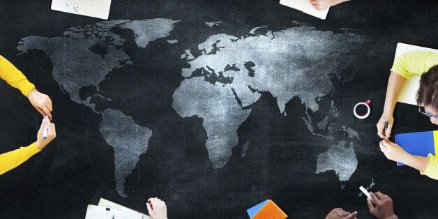 Group of Students Studying About Global
