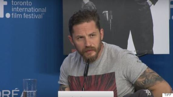 Tom Hardy Shuts Down Awkward Question About His Sexuality, During 'Legend' Promo