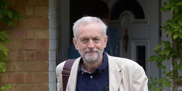 Labour leader Jeremy Corbyn leaves his home in north
