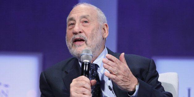 CNBC EVENTS -- Pictured: Joseph Stiglitz, ecomonist and Professor at Columbia University, speaks at the...
