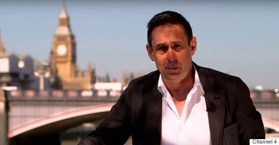 Paul Mason Sticks Two Mickey Mouse Fingers Up At George