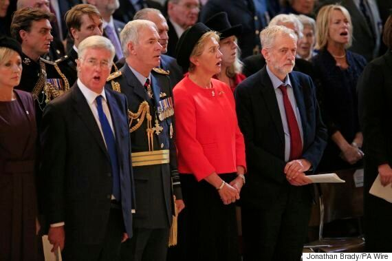 Jeremy Corbyn Stood In 'Respectful Silence' During National Anthem At Battle Of Britain Memorial