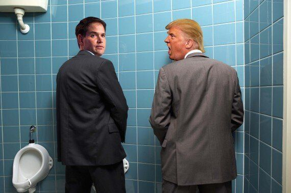 US Presidential Race Becomes Literal Pissing