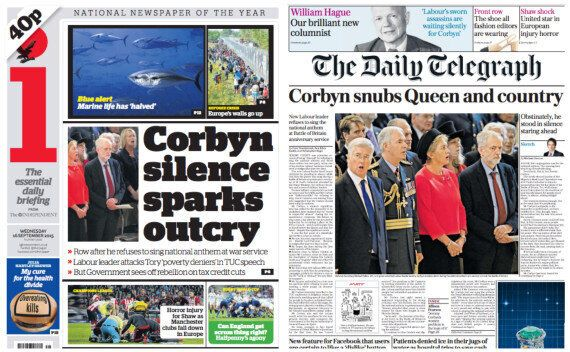 Jeremy Corbyn's National Anthem Silence Prompts Tabloid Frenzy Over 'Hapless' Labour