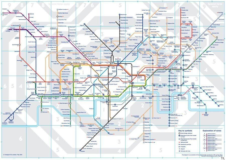 London Underground: Geographically Accurate Map Obtained By Freedom Of Information