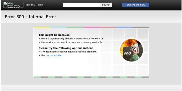 BBC Website Down Leaves Users In