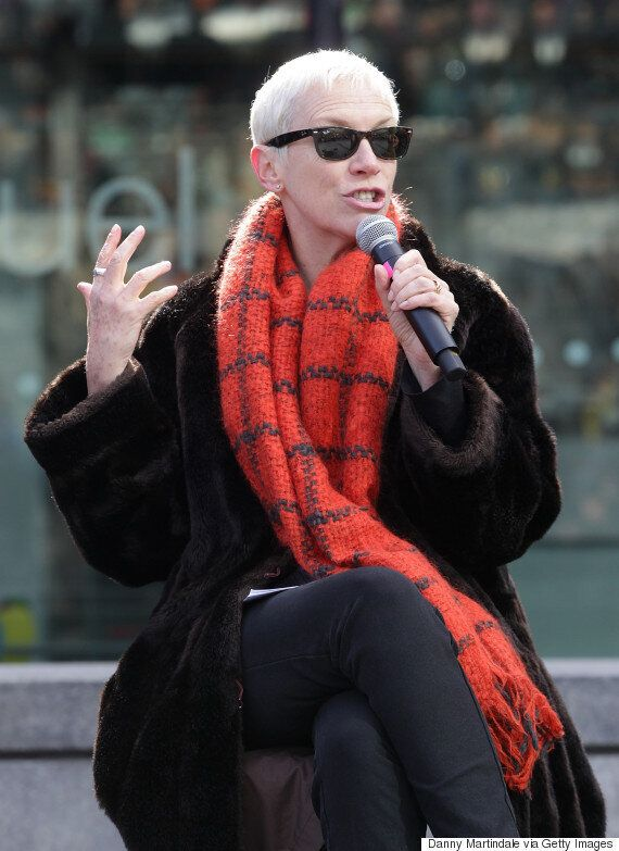 Annie Lennox Calls On UK To Remember Campaigners Who 'Sacrifice So Much' At Walk In Her Shoes