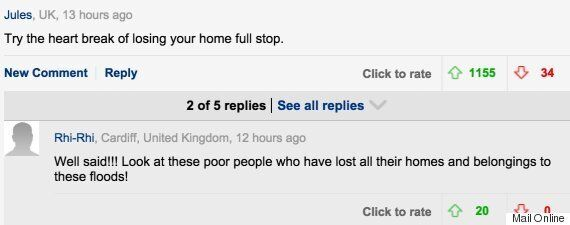Mail Online Readers Angry At 'Ridiculous' Claire Cisotti House Moving Article Following Storm Flood
