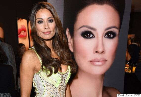 Melanie Sykes Poses With Um, Herself At Make-Up Artist Gary Cockerill's Book Launch