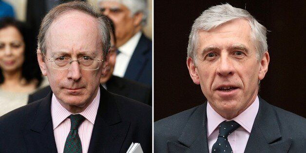In a combination of file pictures created on February 23, 2015 British politician Malcolm Rifkind (L)...