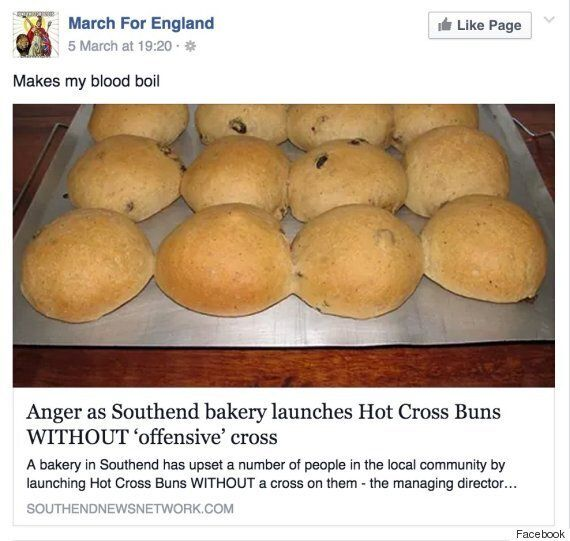 English Defence League Fall For Spoof 'Hot Cross Buns Without Offensive Cross'
