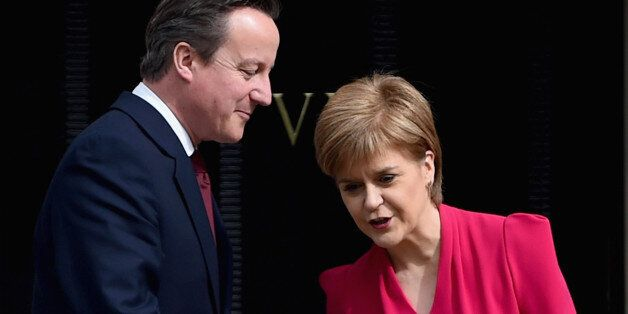 EDINBURGH, SCOTLAND - MAY 15: British Prime Minster David Cameron meets with Scottish First Minister...