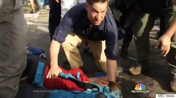 Richard Engel Shows His Humanity When Pregnant Refugee Collapses On NBC