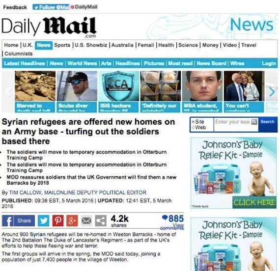 Army Make Statement On 'Absolutely Ridiculous' Story About Refugee Swimming From