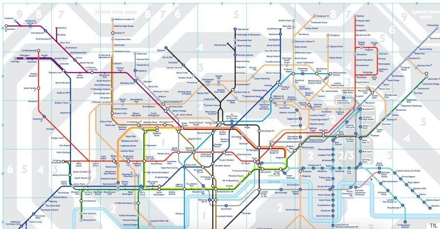 London Underground 2016 Tube Map Shows New Zones For Stratford ... on london building map, london train map, trafffic charge london map, london rex, london fallen angel, london monitor, london zone 1, london tube passes for tourists, london home map, london congestion charge map, london cambridge map, london bus map, london red map, london metro map, london travel zones, london sky pool, london map tourist, london global map, london postcode map, london points of interest,