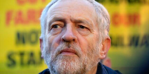 Labour Party leader Jeremy Corbyn attends a fares protest at King's Cross Station, London, as the Government...