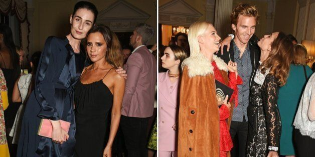London Fashion Week: Alexa Chung And Victoria Beckham Mingle With Models And Designers At Vogue