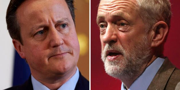 File photos of Prime Minister David Cameron (left) and Labour Party leader Jeremy Corbyn, who has challenged...