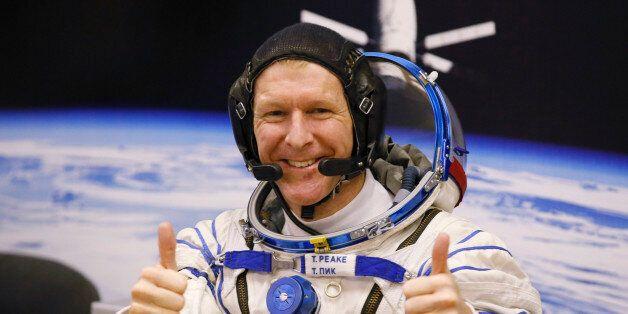 FILE - In this Tuesday, Dec. 15, 2015 file photo, British astronaut Tim Peake, member of the main crew...