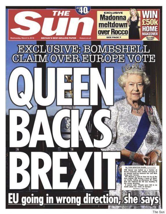 Buckingham Palace Lodges Complaint Over Sun's 'Queen Backs Brexit'