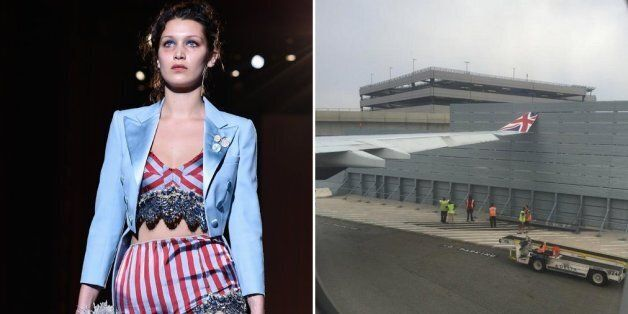 Bella Hadid's 20 Hour Journey To London Fashion Week After Plane 'Hits Wall' At JFK